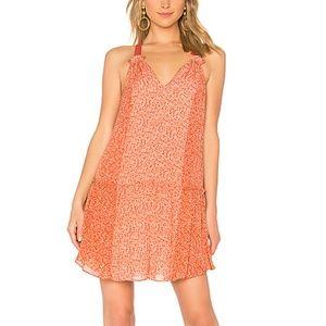 Joie Hirani Drop Waist Dress Cinnamon Floral Print